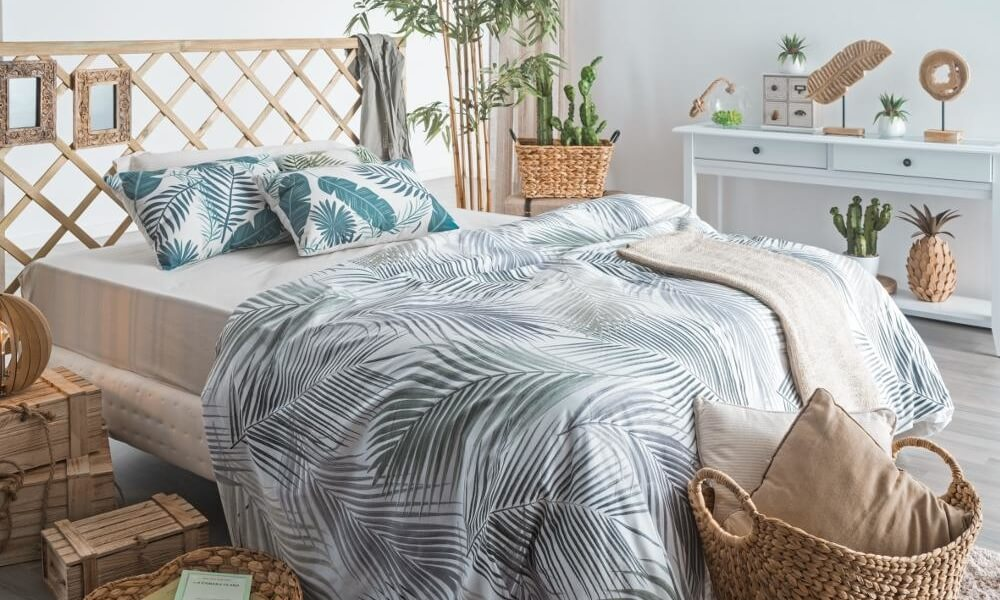 Dormitorio de decoración étnica