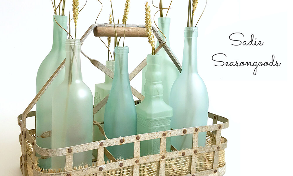 Botellas personalizadas como centro de mesa
