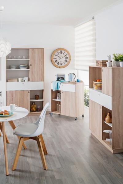 Ilhas de cozinha - Mesa com rodas EMMA para cozinha em Conforama