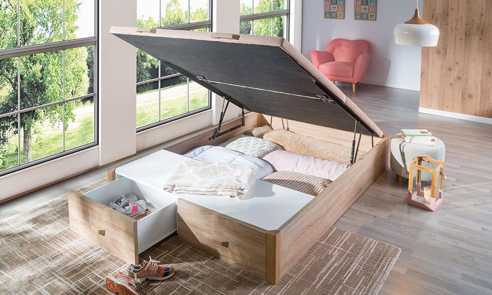 Hacer ejercicio para dormir bien Canape Woodbox en Conforama