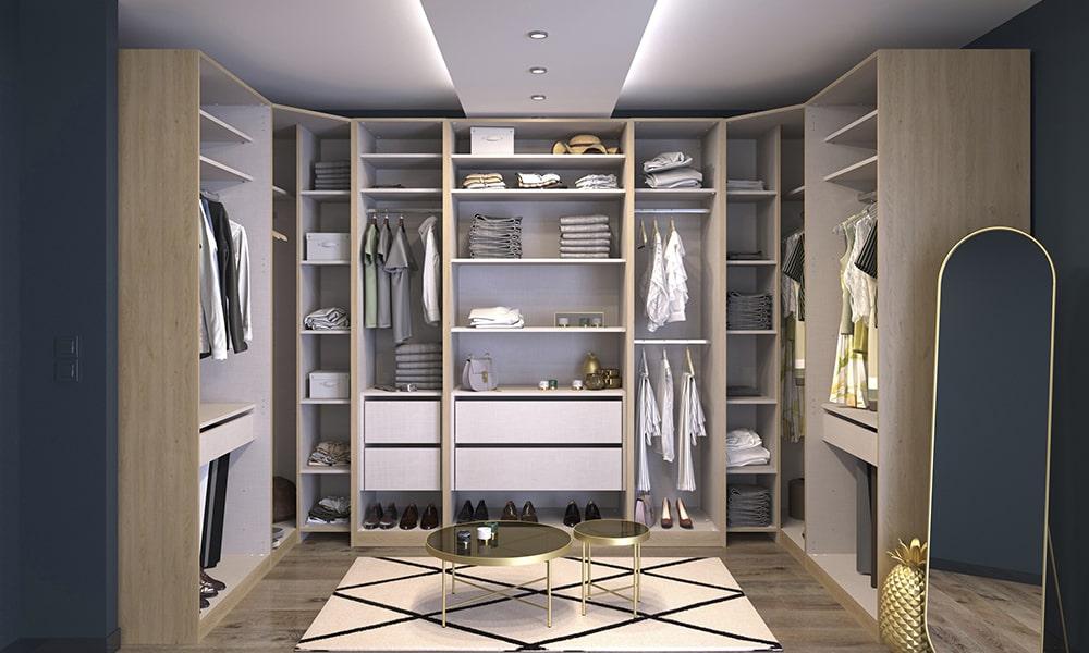 Decorar o quarto com o closetde senhos Conforama