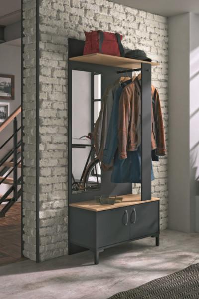 Mueble recibidor con espejo MANCHESTER de Conforama