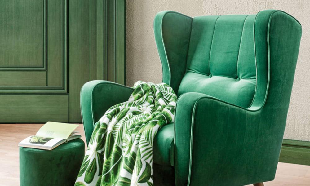 Veludo para relaxar confortavelmente e de forma elegante na sua sala