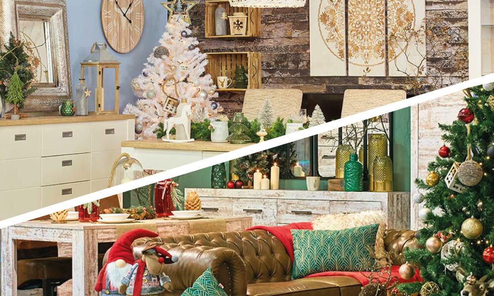 Decoração de Natal na Conforama Clássica ou Escandinava