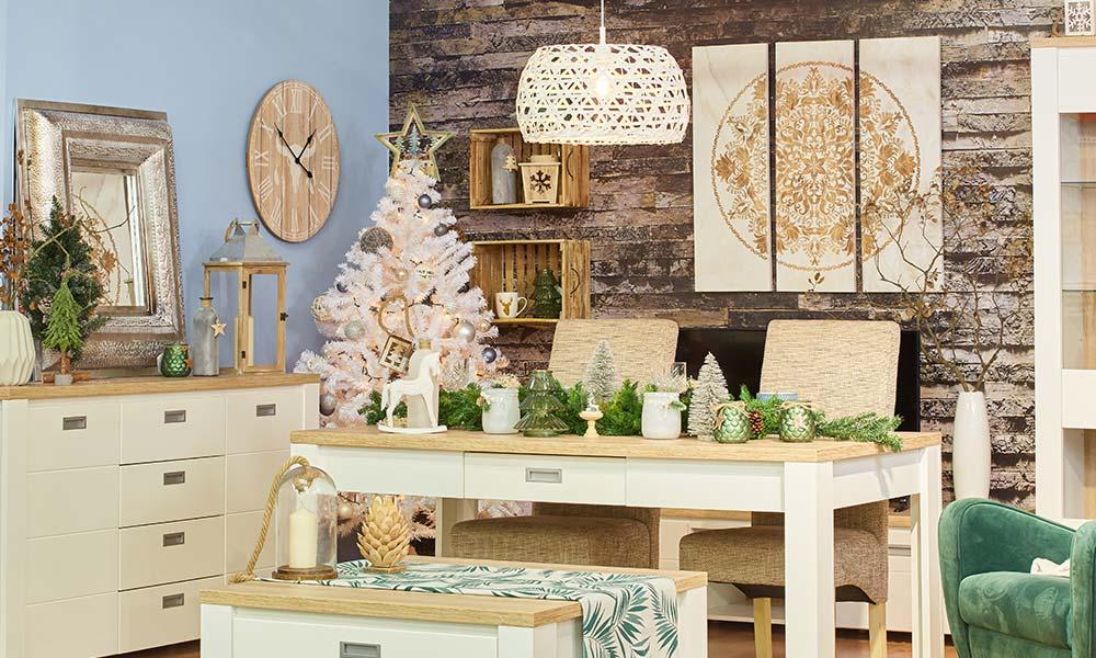 Decoração de Natal White Forest ou estilo nórdico Conforama