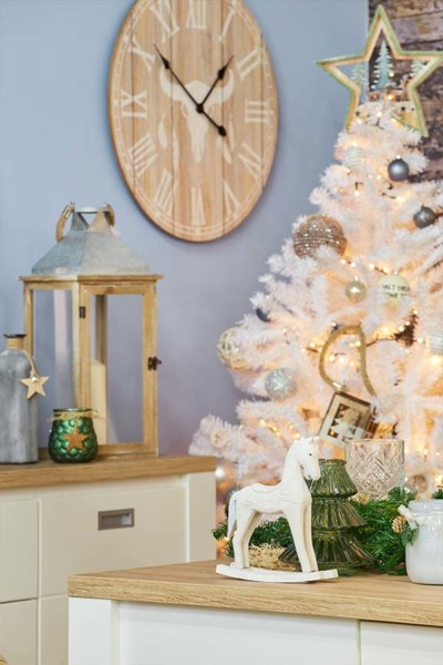 Cores neutras na decoração de Natal Conforma