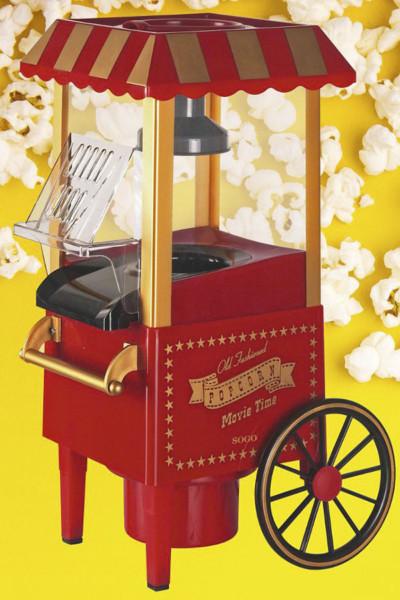 Um bom filme é sempre acompanhado de umas boas pipocas feitas na Máquina de pipocas SOGO PAL-SS-11330, disponível na Conforama.