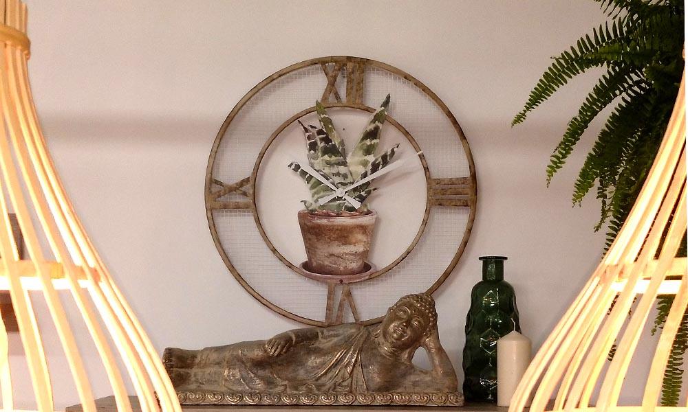 Reloj de pared METAL MACETA Conforama