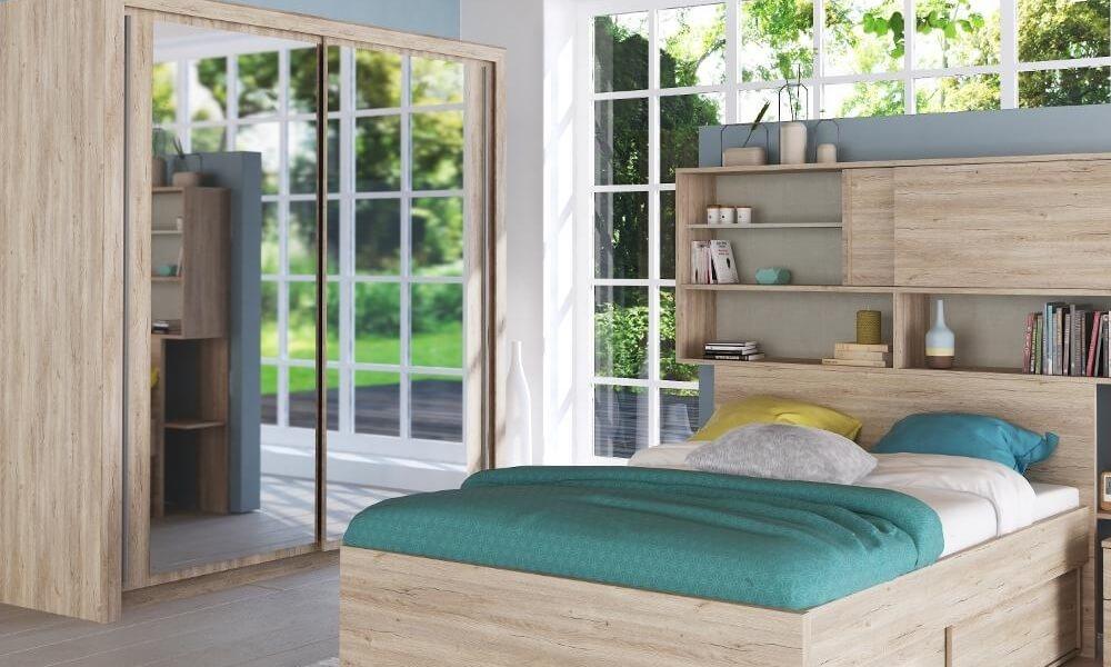 Dormitorio VANCOUVER con armario de puertas correderas