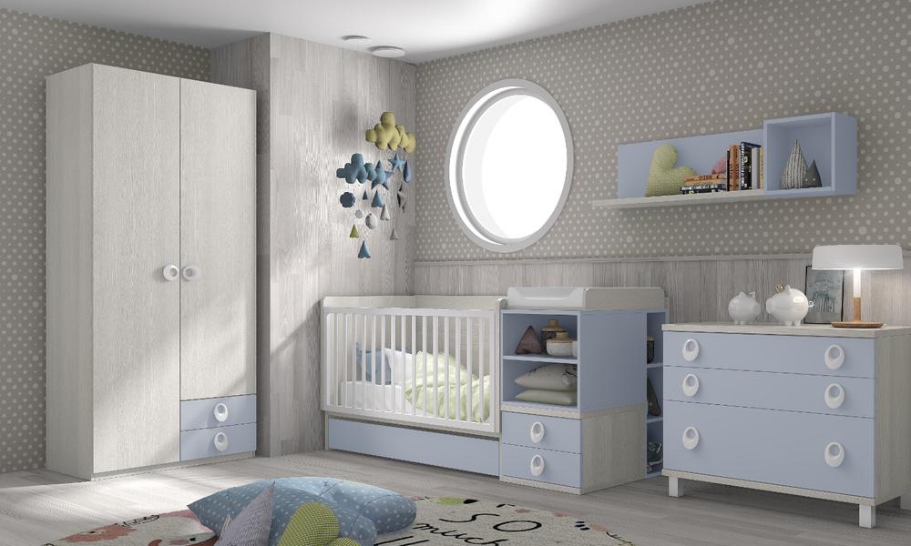 Móveis estáveis e fixos no quarto do bebé