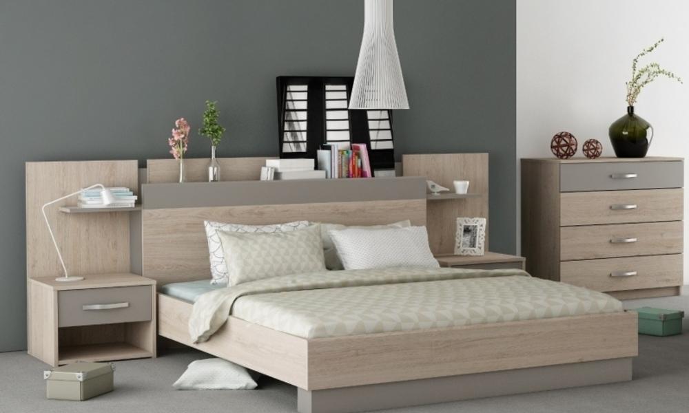 dormitorio moderno madera claro
