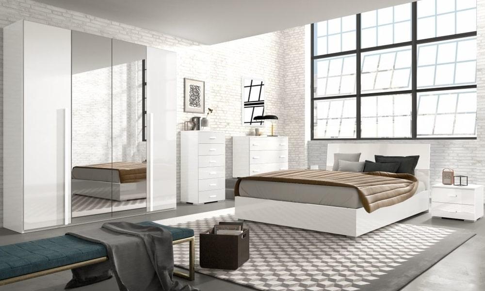 casas modernas - No quarto, as cómodas com gavetas e um roupeiro espaçoso fazem toda a diferença
