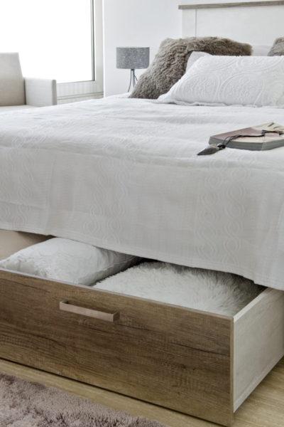 Cajón de la cama VERONA con amplia capacidad