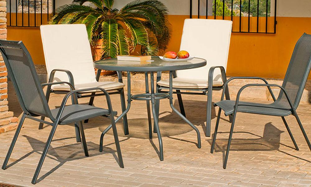 Sillas y mesas de terraza BALOS de Conforama
