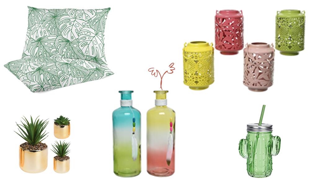 Ideias de decoração de verão para mesas de terraço