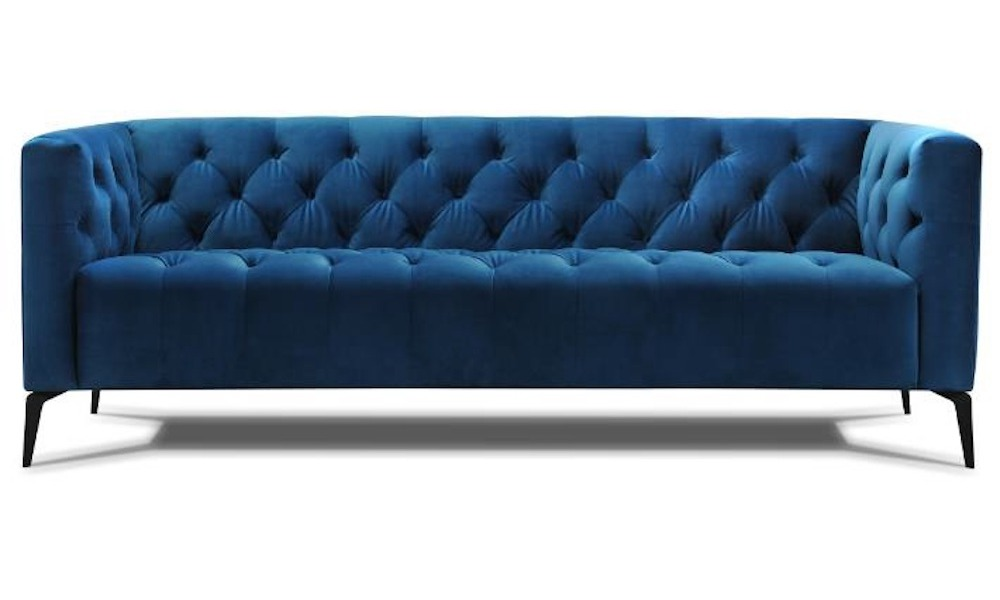 sofá em veludo