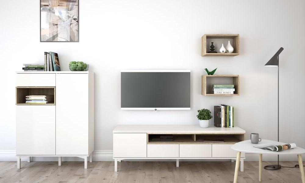 salones modernos blancos casas pequeñas