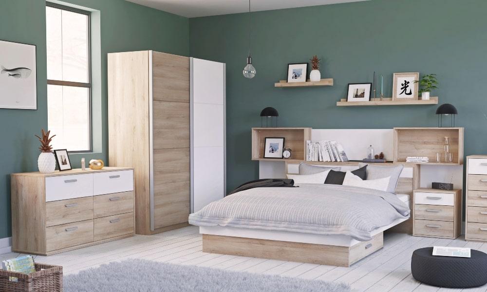 armario capsula dormitorio madera