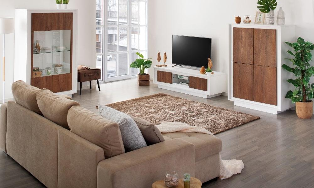 cojines adecuados para sofa neutro salon moderno