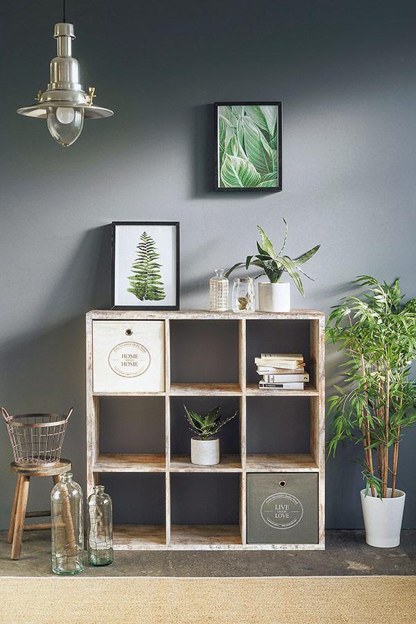 decoracion estanterias salon