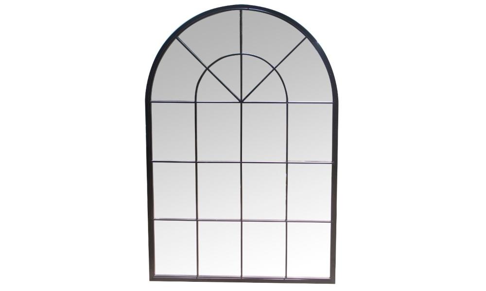 muebles shabby chic: espejo con forma de ventana