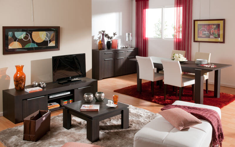Decoracion salon - Como decorar un mueble de salon ...