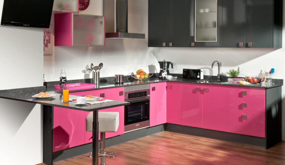 Cocinas rosa fucsia dise os arquitect nicos - Cocinas rosa fucsia ...