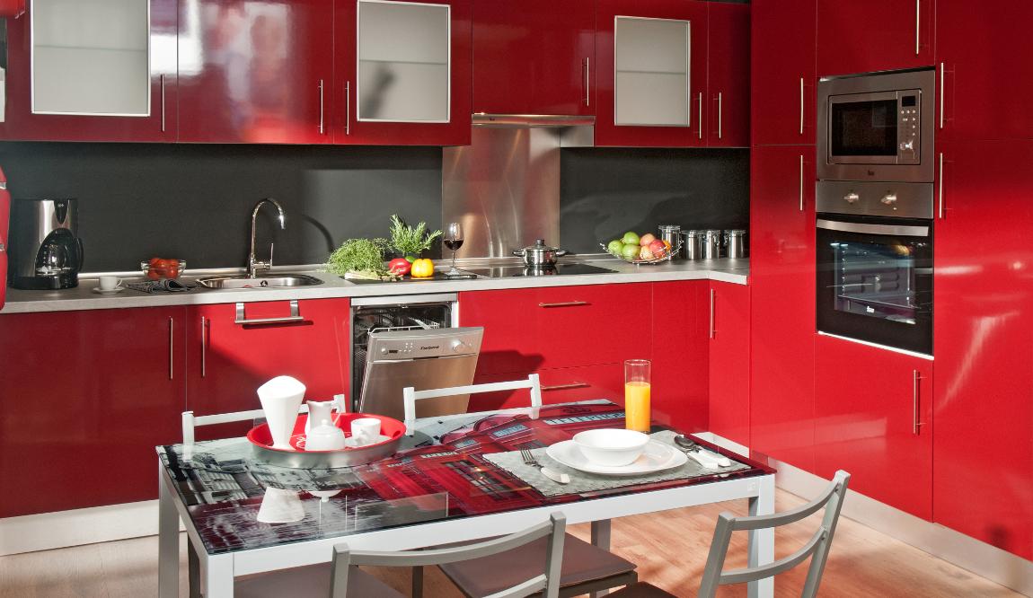 Asombroso Cocinas De Color Rojo Imágenes - Ideas de Decoración de ...