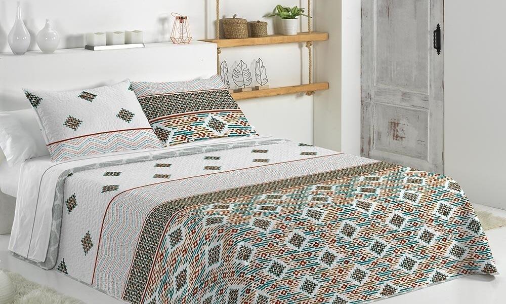 Juego de cama para dormitorio de decoración étnica