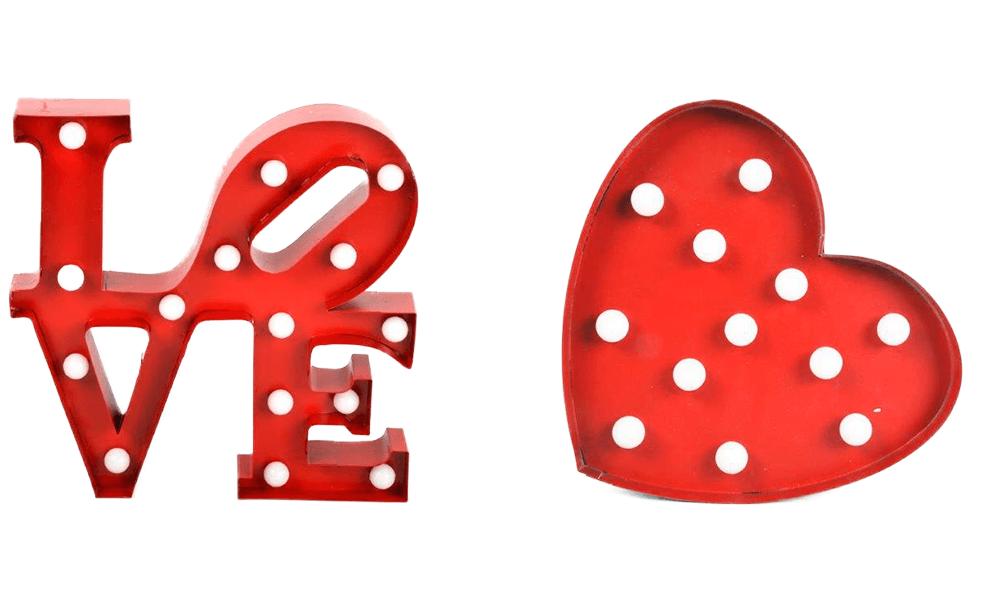 Corazón LUCES LED Ideas para regalar en San Valentín