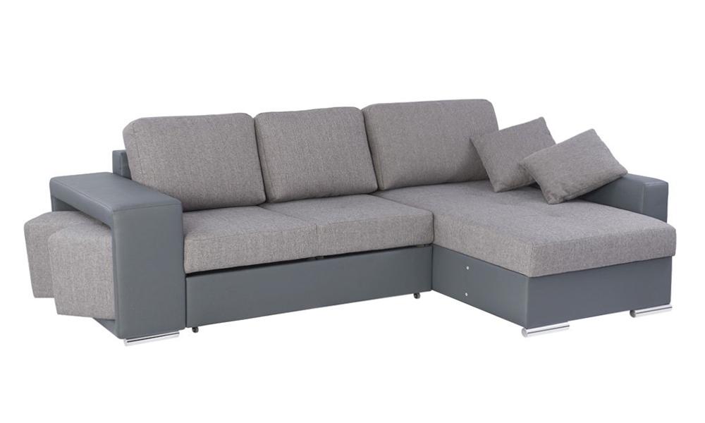 Chaise longue reversible con cama y 2 poufs TORRES