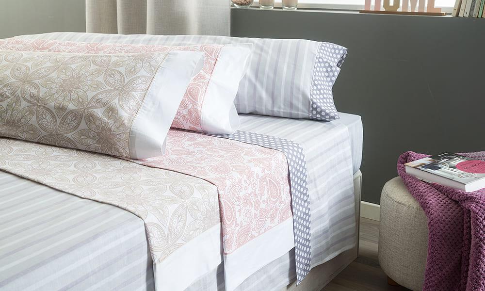 Surtido juego de sábanas de algodón en Conforama