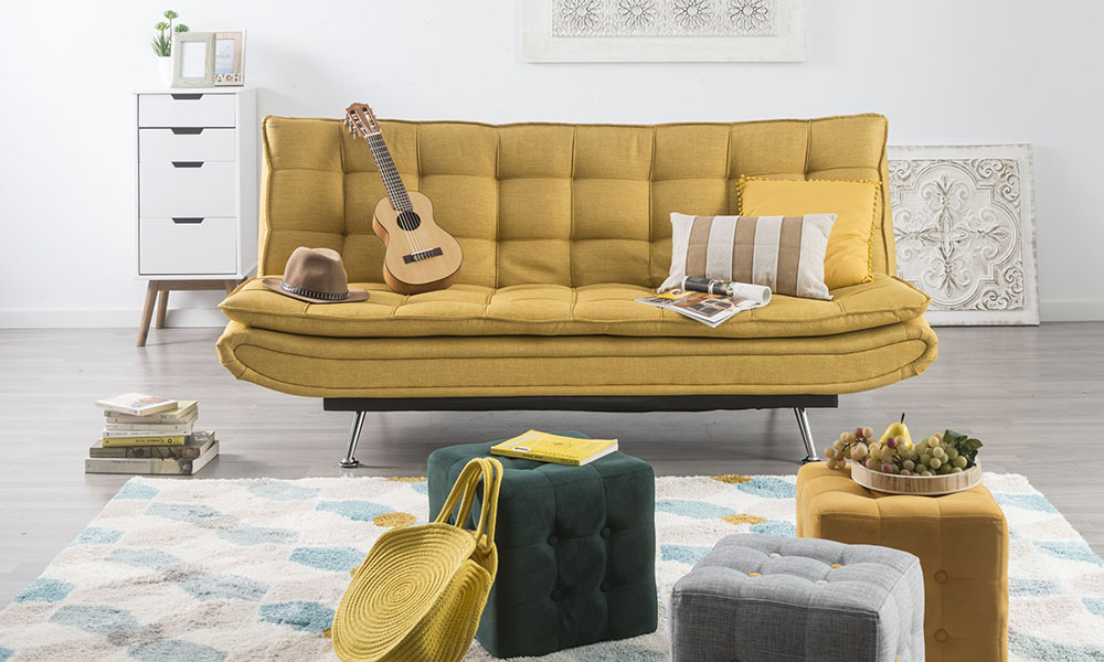 Color mostaza como tendencia 2019 Sofá Willem