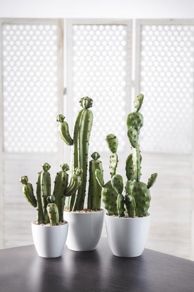 regalos para padres - Surtido Cactus artificial en maceta 63 cm de Conforama