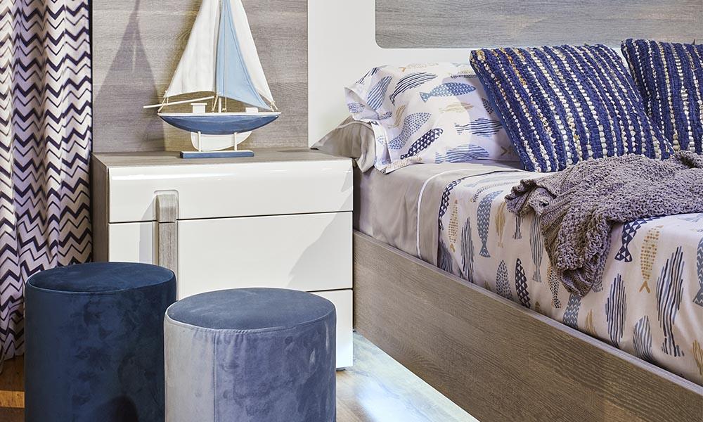 Ropa de cama de la tendencia Seaside