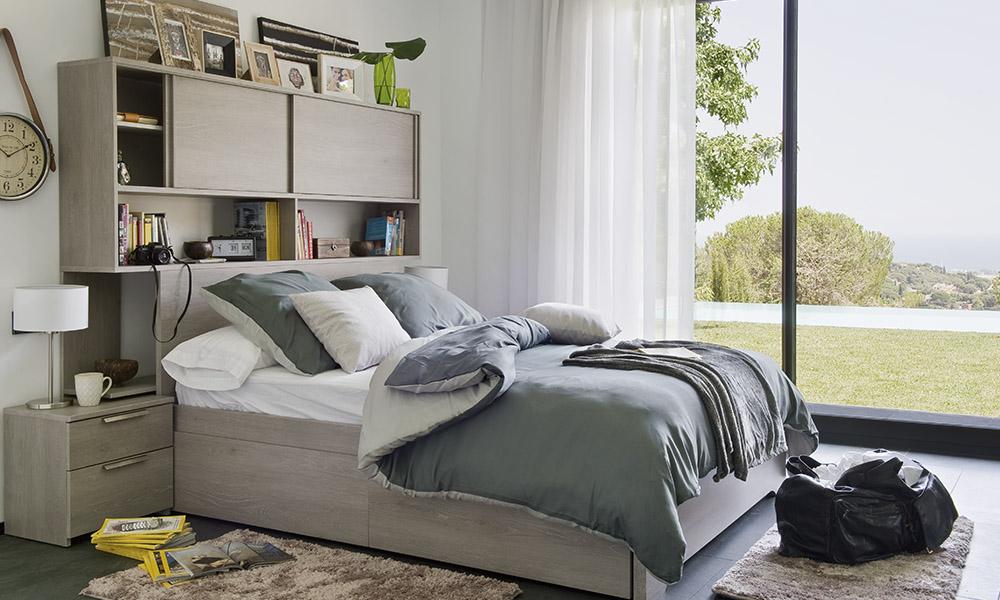 Dormitorio del programa VANCOUVER, disponible en 3 colores