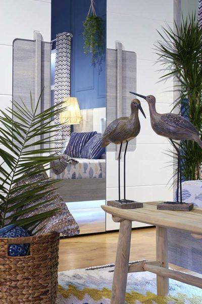 Banco decorativo TEAK de madera en color natural
