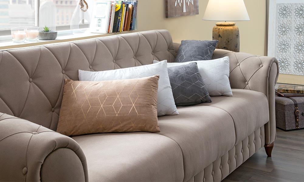como hacer cojines para sofas