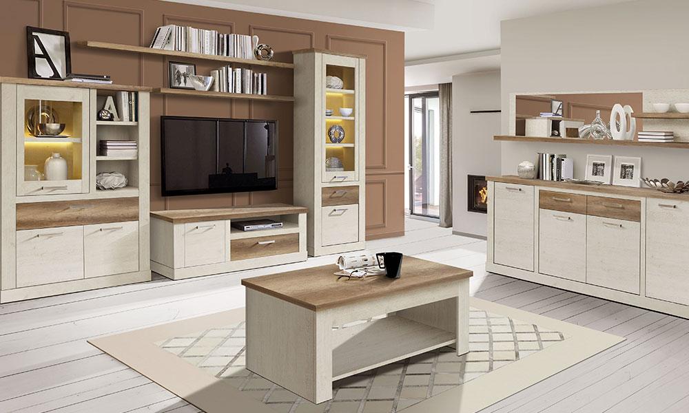 combinar muebles de distintas maderas
