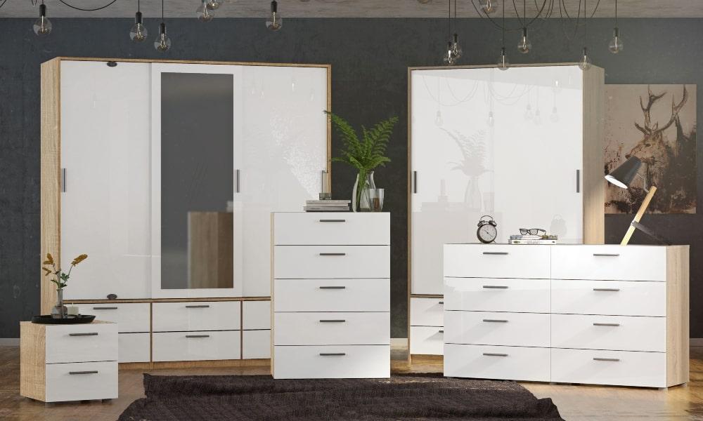 armario básico blanco dormitorio