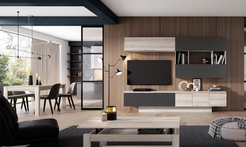 combinar muebles de distintos colores