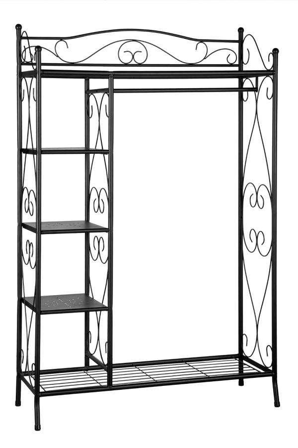 muebles shabby chic armario forja negro