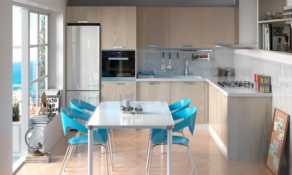 aprovechar esquina cocina con muebles rinconeros