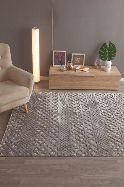 idea de alfombra para decorar cama de palé