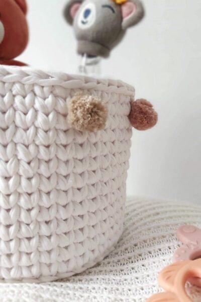 como hacer cestas de trapillo